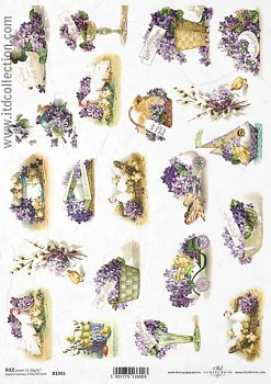 Rice decoupage paper A4 / ITD R1341