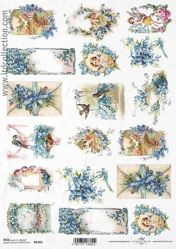 Rice decoupage paper A4 / ITD R1343