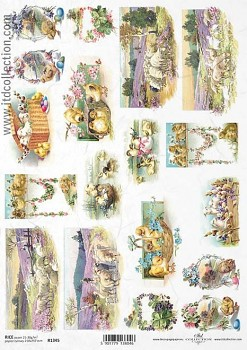 Rice decoupage paper A4 / ITD R1345