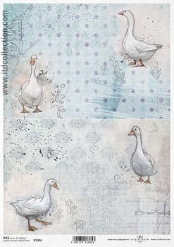 Rice decoupage paper A4 / ITD R1346