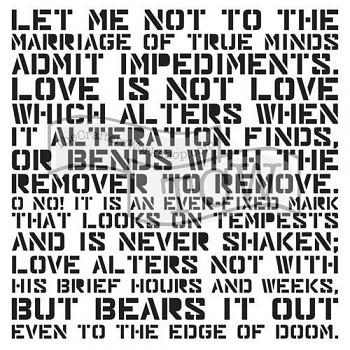 "Template / 12x12"" / Love Sonnet"