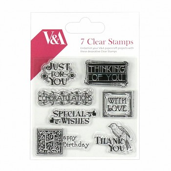 V&A Sentiment / Clear Stamps