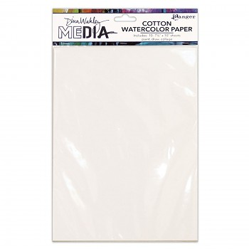 "Dina Wakley media cotton watercolor paper / 7,5x10"" inch / 10ks"