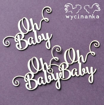 Chipboards - BEST WISHES - Oh Baby / 3ks