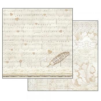 Scrapbookový papier / 12x12 / score and feather
