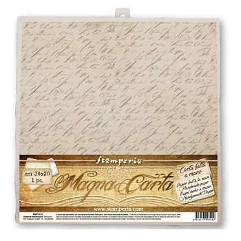 Ručný papier 30x30cm / Calligraphy / 1ks