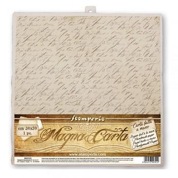 Handmade paper 30x30cm / Calligraphy / 1szt