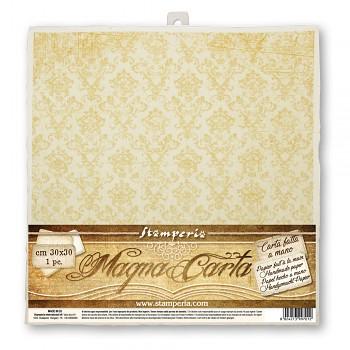 Handmade paper 30x30cm / Damask / 1szt