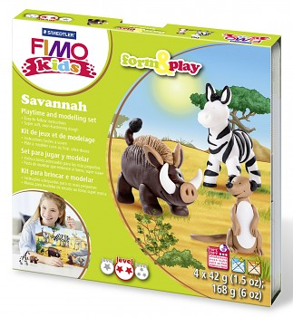 Sada Fimo Kids Form & Play / Savannah