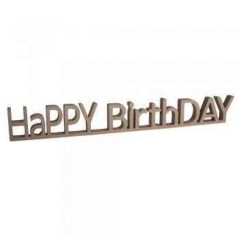 MDF HaPPY BirthDAY / 42x1.5x5.5cm