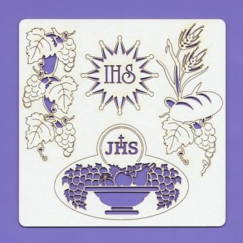 Chipboards - Holy Communion 004, 148x148x1.5 mm