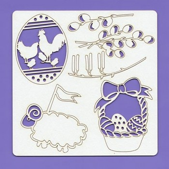 Chipboards - Easter 003, 148x148x1.5 mm