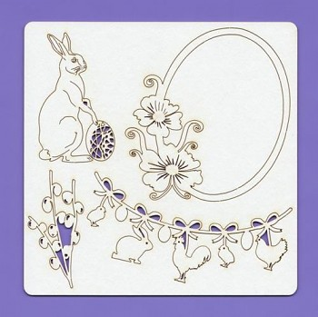 Chipboards - Easter 001, 148x148x1.5 mm