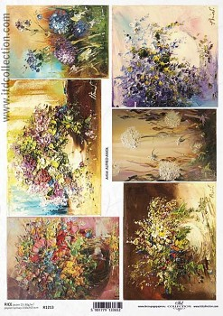 Rice decoupage paper A4 / ITD R1213
