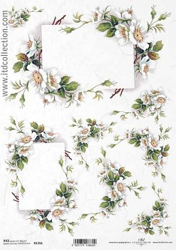 Rice decoupage paper A4 / ITD R1356