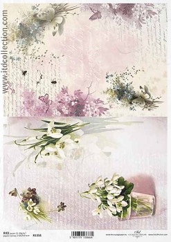 Rice decoupage paper A4 / ITD R1358