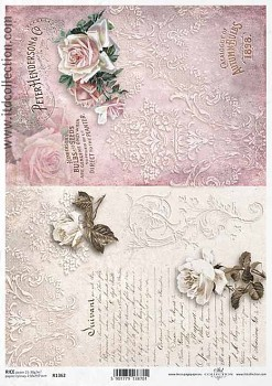 Rice decoupage paper A4 / ITD R1362
