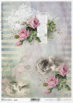 Rice decoupage paper A4 / ITD R1375