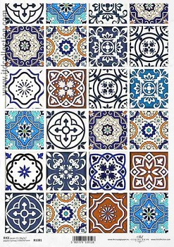 Rice decoupage paper A4 / ITD R1381