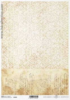 Rice decoupage paper A4 / ITD R1384