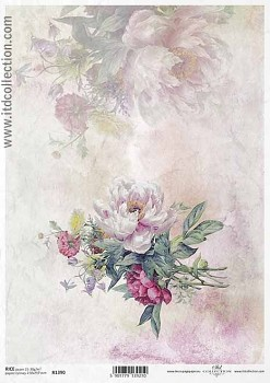 Rice decoupage paper A4 / ITD R1390