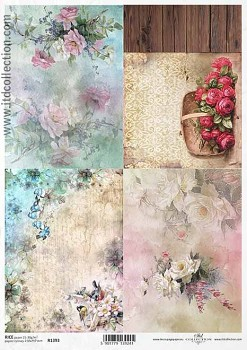Rice decoupage paper A4 / ITD R1393
