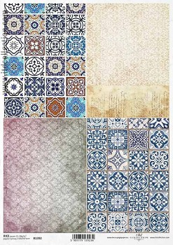 Rice decoupage paper A4 / ITD R1392
