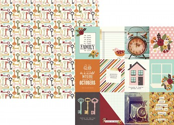 Vintage Blessings / 3x4 Journaling Card Elements / 12x12