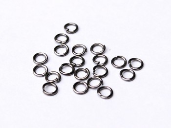 Jumpring / 20 pcs / 4 mm / gun metal