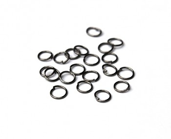 Jumpring / 20 pcs / 8 mm / gun metal