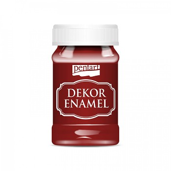 Pentart Dekor Enamel 100ml / bordová