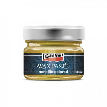 Vosková pasta metalická / 20ml / žltá