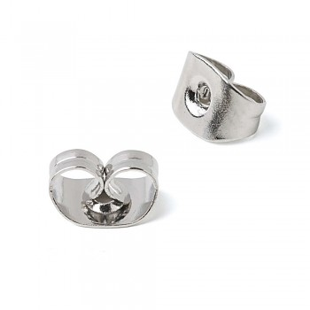 Earring Stoppers / 20 pcs / silver