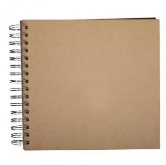 "Scrapbook Album 8x8"" - Kraft"