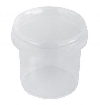 Clear plastic box, with lid, 8.5cm, 365ml, 5szt