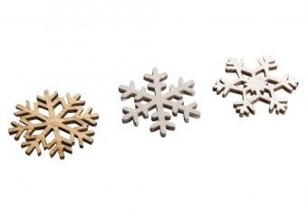 Small wood.items Snowflake, 3.8cm / 12pcs