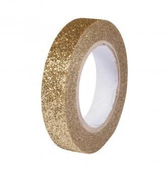 Glitrová páska / 8mm x 5m / gold