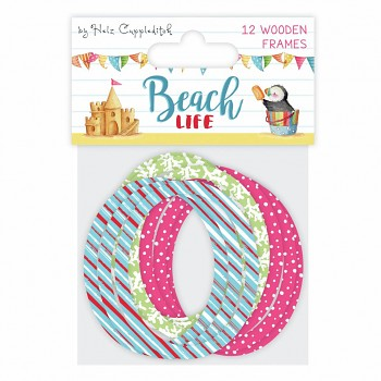 Drevené dekorácie Beach Life Wooden Frames / 12ks