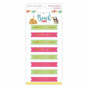 Beach Life Sentiment Toppers