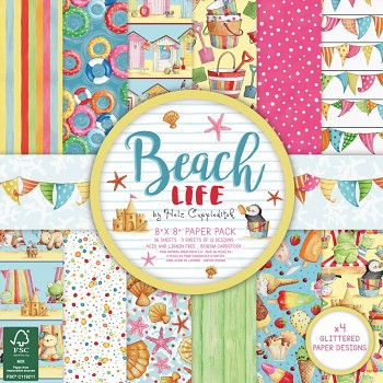 "Beach Life 8x8"" Paper Pack / 36pcs"