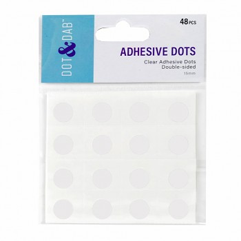 Clear Dot & Dab Glue Dots 15mm / 48pcs