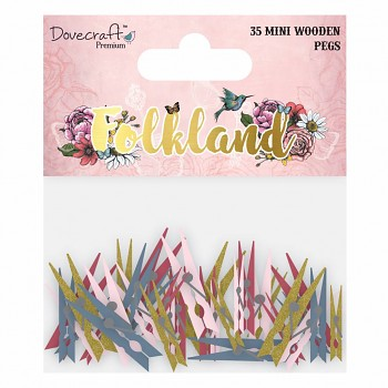 Folkland Wooden Pegs Small (35St.)