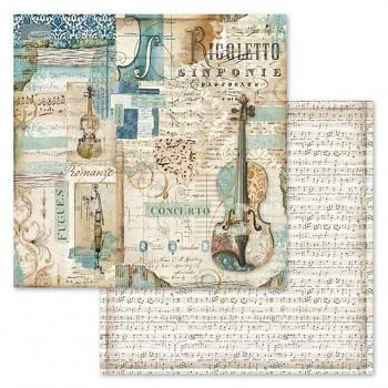 Scrapbookový papier / 12x12 / Music Rigoletto violin