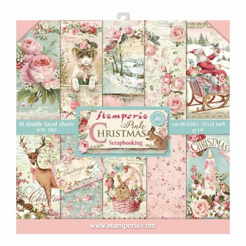 "Pink Christmas / 12x12"" / Paper Pack"