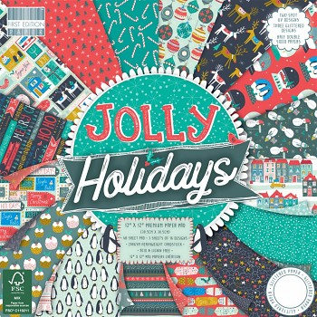 Jolly Holidays / 12x12 / 48pcs / Paper Pack