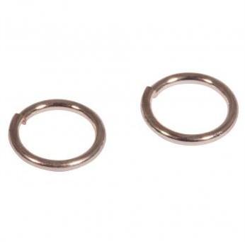 Spojovací kroužek 30 ks / 7mm / pink-gold