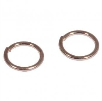 Ring 30 pcs / 7mm / pink-gold