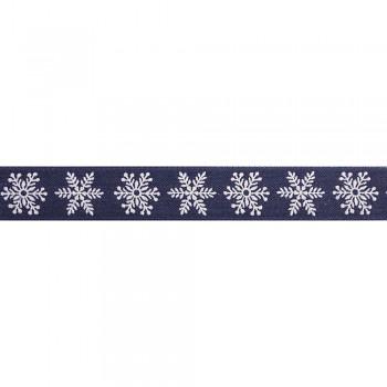 Deco ribbon Snowflakes, 25mm / 1m