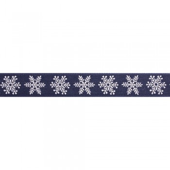 Deco ribbon Snowflakes, 25mm / 1m