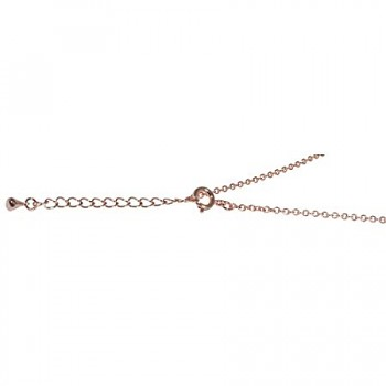 Metal element chain w. clasp, 2mm ø, 78cm, +5cm / rose-gold
